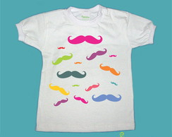 T-Shirt Bebê e Infantil  MUSTACHES COLOR