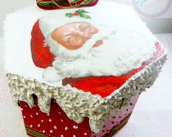 Caixa panetone do papai noel