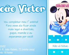 Convite e Tag: Mickey-Minnie Baby