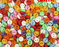 150 MINI BOTÕES 6MM VARIAS CORES