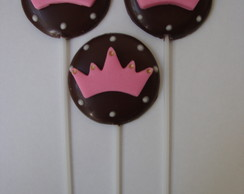 PIRULITO DE CHOCOLATE PRINCESAS