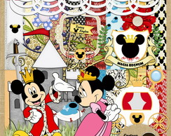 Kit para Scrapbook#285 Mickey Kingdom