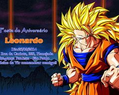 Convite - Dragon Ball Z