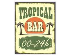 Placa MDF Retrô Tropical Bar - 692