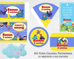 Kit Digital Tema Galinha Pintadinha