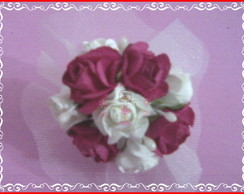 Mini bouquet com flor de papel