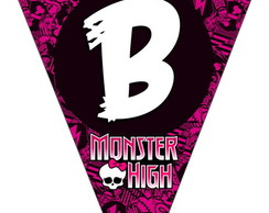 Bandeirola - Monster High