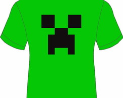 Camiseta verde Creeper Minecraft