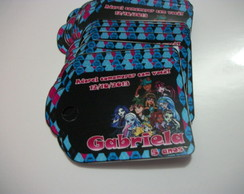 Tags Personalizados monster high