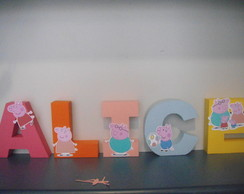 Letra Box 3D Decorada da Peppa Pig