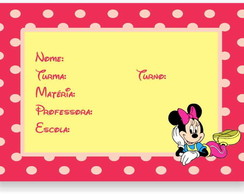Minnie Etiqueta Escolar