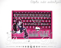 CONVITE MONSTER HIGH 14X10