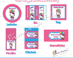 Kit festa digital Hello Kitty