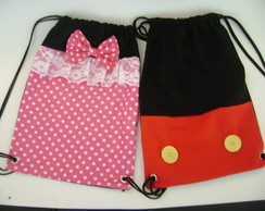 mochila minnie e mickey ( 40 x 30 )