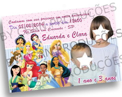 Convite Virtual Princesas