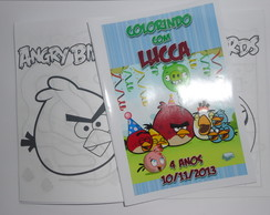 Revistinha de Colorir 10x15 Angry Birds