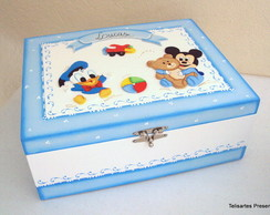 Caixa De Documentos Baby Mickey e Donald