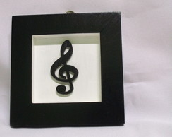 Mini Quadrinho MDF Musical