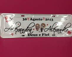 Placa decorada de Carro