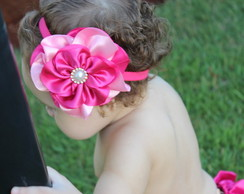 Head Band Mega Flor Pink