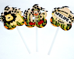 Topper para docinhos Safari do Mickey