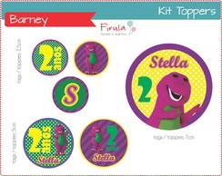 Kit Digital Toppers / Tags Barney