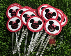 Totens/toppers MINNIE VERMELHA