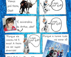 Convite digital Frozen gibi digital