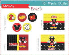 Kit Festa Digital Mickey Mouse