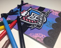 Bloco de Colorir+Giz Cera - Monster High