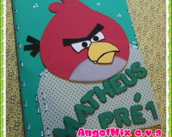 caderno decorado Angry birds