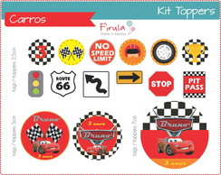 Kit Toppers / Tags Carros