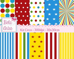 Kit Papel Digital Circo