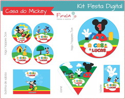 Kit Festa Digital Casa do Mickey