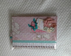 Cadernos decorados scrapbook