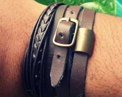 Pulseira Mix Brown Fivela 2
