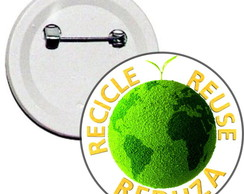 Boton 3R's Recicle Reuse Reduza