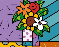 QUADRO POP ART - FLOWER 2 - (45 X 45 )