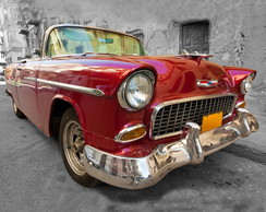 QUADRO VINTAGE - RED CAR 2 - (30 X 30)