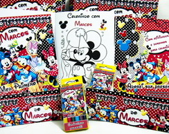 Kit de colorir Minnie e Turma Disney