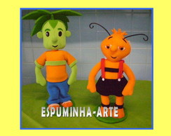 KIT 2 PERSONAGENS COM 50CM CADA