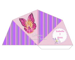 Cone 4 Lados Barbie Butterfly