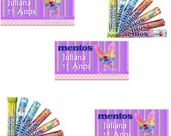 Rotulo Para Mentos  Barbie Butterfly