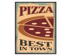 Placa Mdf Retrô Best Pizza - 722