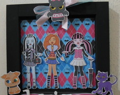 Quadro de Madeira Decorado Monster High