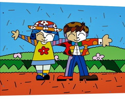 QUADRO POP ART - BOY AND GIRL  (50 X 80)