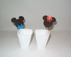 COLHER MICKEY E MINNIE DECORADA!