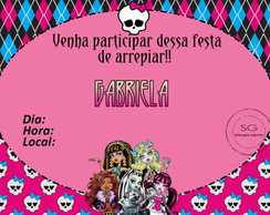 Convite Monster High 2