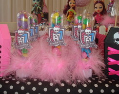 Tubetes decorados tema Monster High