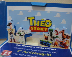 Convite TOY STORY Pop-Up